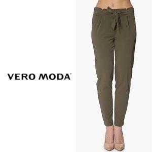 Olive Green Vero Moda Trousers
